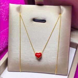 24k pendant in 18k chain necklace